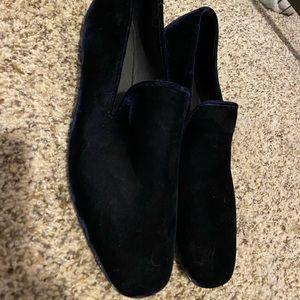 Vince Blue Velvet loafers